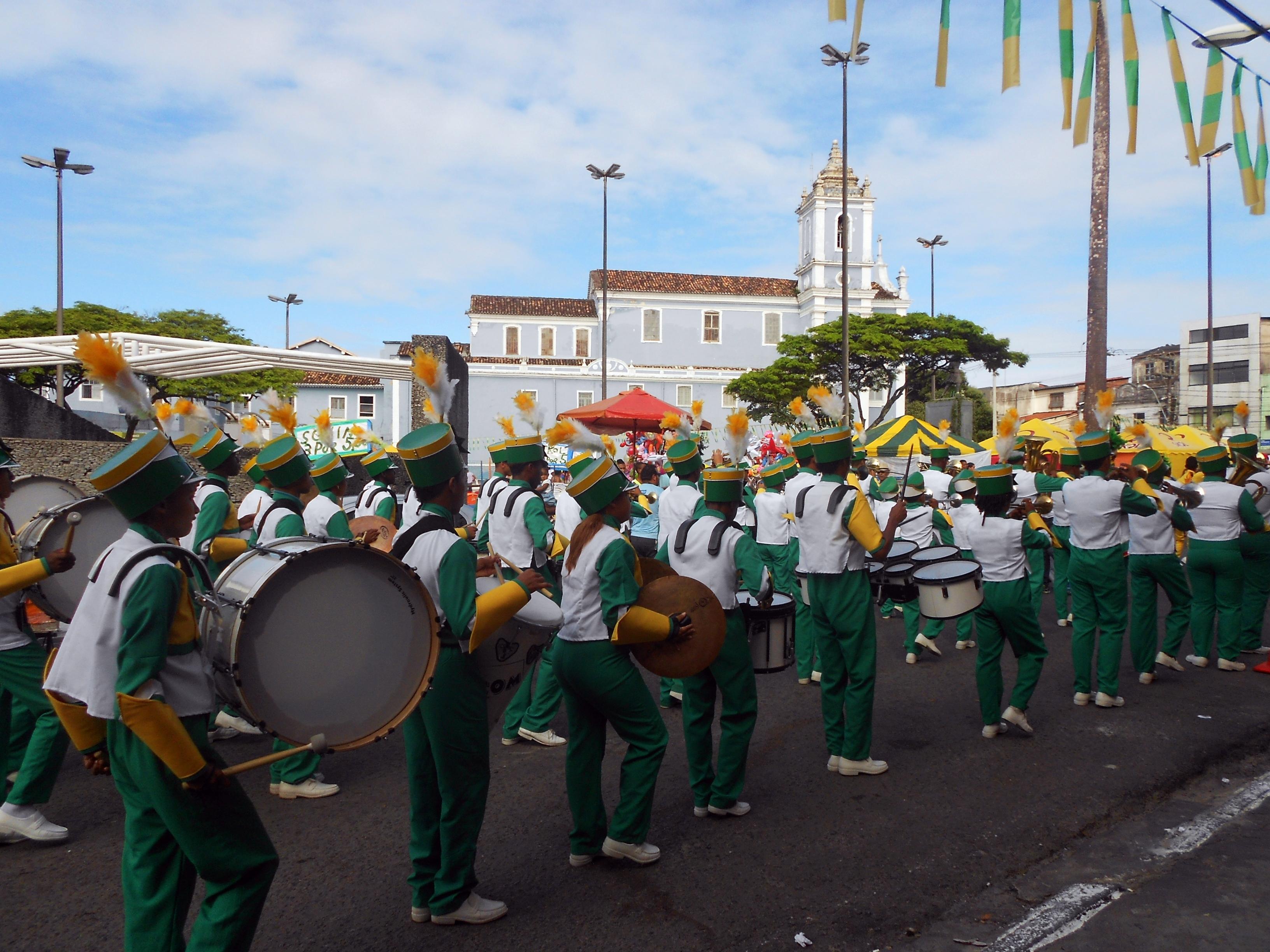 Ala das tradicionais fanfarras/Foto: Joseanne Guedes/ABI