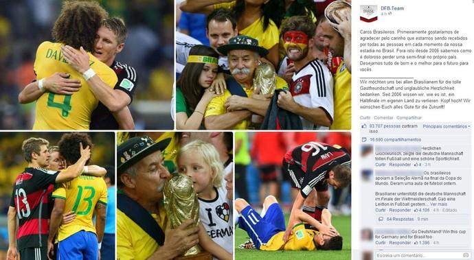 O post da seleção alemã foi um dos mais repercutidos - Foto: Reprodução/Facebook