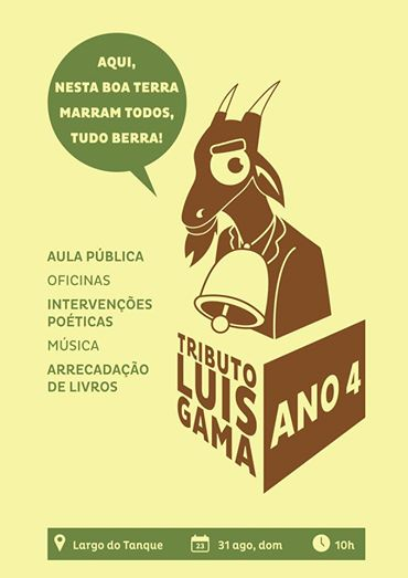 Cartaz do Tributo a Luis Gama 2014