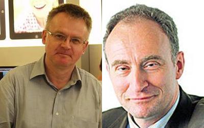 Frank Herrmann, do jornal alemão Rheinische Post, e Ansgar Graw, do Die Welt,  foram presos enquanto cobriam os protestos em Ferguson - Foto: Reprodução