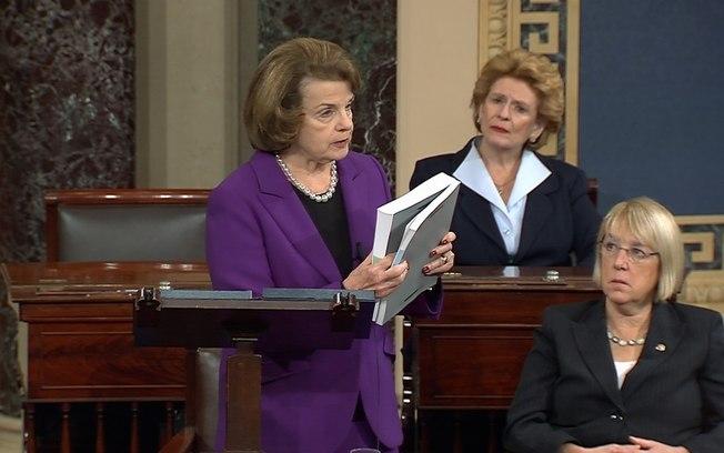 """A presidente do comitê que analisou as ações da CIA, Dianne Feinstein: """"houve torturas brutais"""" - Foto: Reuters"""